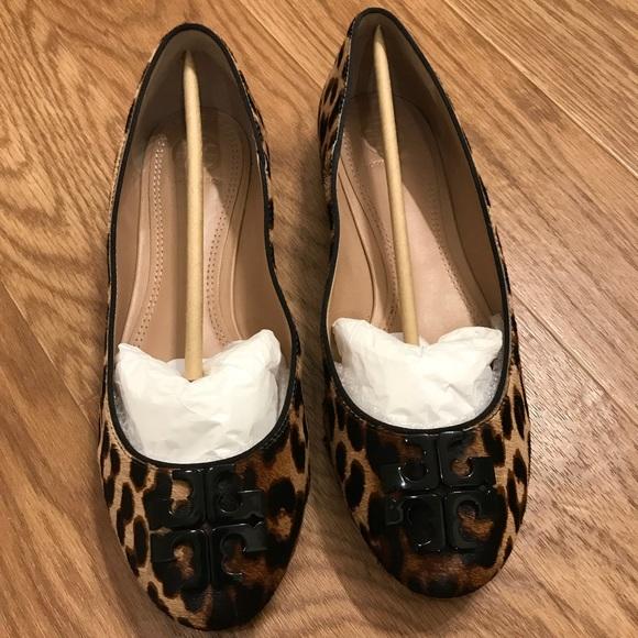 691a117d947f Tory Burch Shoes - Tory Burch Leopard Print Lowell Flats
